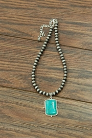 JChronicles Natural-Turquoise Pendant-Navajo Pearl-Necklace - Product Mini Image