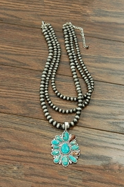 JChronicles Natural-Turquoise Pendent Necklace - Product Mini Image