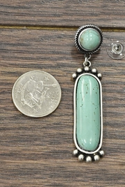 JChronicles Natural Turquoise Post-Earrings - Front full body