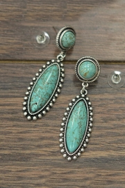 Natural Turquoise Post-Earrings
