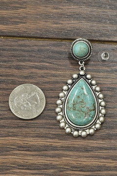 JChronicles Natural Turquoise Post-Earrings - Alternate List Image
