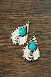 JChronicles Natural-Turquoise Rodeo Hammered-Earrings - Product Mini Image