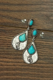 Natural Turquoise Rodeo-Post-Earrings