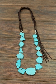 JChronicles Natural Turquoise Slab-Necklace - Product Mini Image