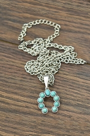 JChronicles Natural-Turquoise Squash-Blossom Pendant-Necklace - Product Mini Image