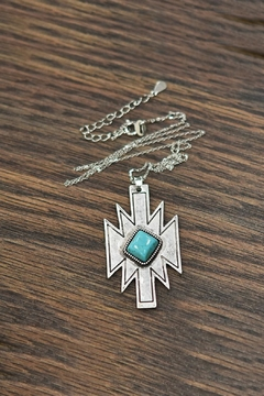 JChronicles Natural-Turquoise Sterling-Silver Chain-Necklace - Product List Image