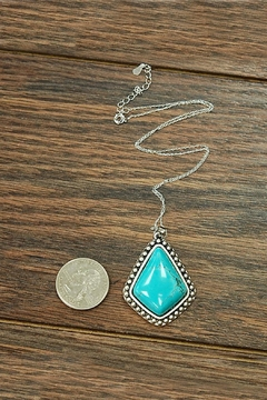 JChronicles Natural-Turquoise Sterling-Silver Chain-Necklace - Alternate List Image