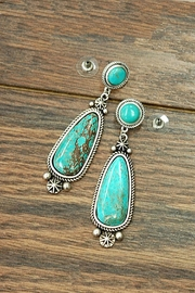 JChronicles Natural Turquoise-Stone Earring - Product Mini Image