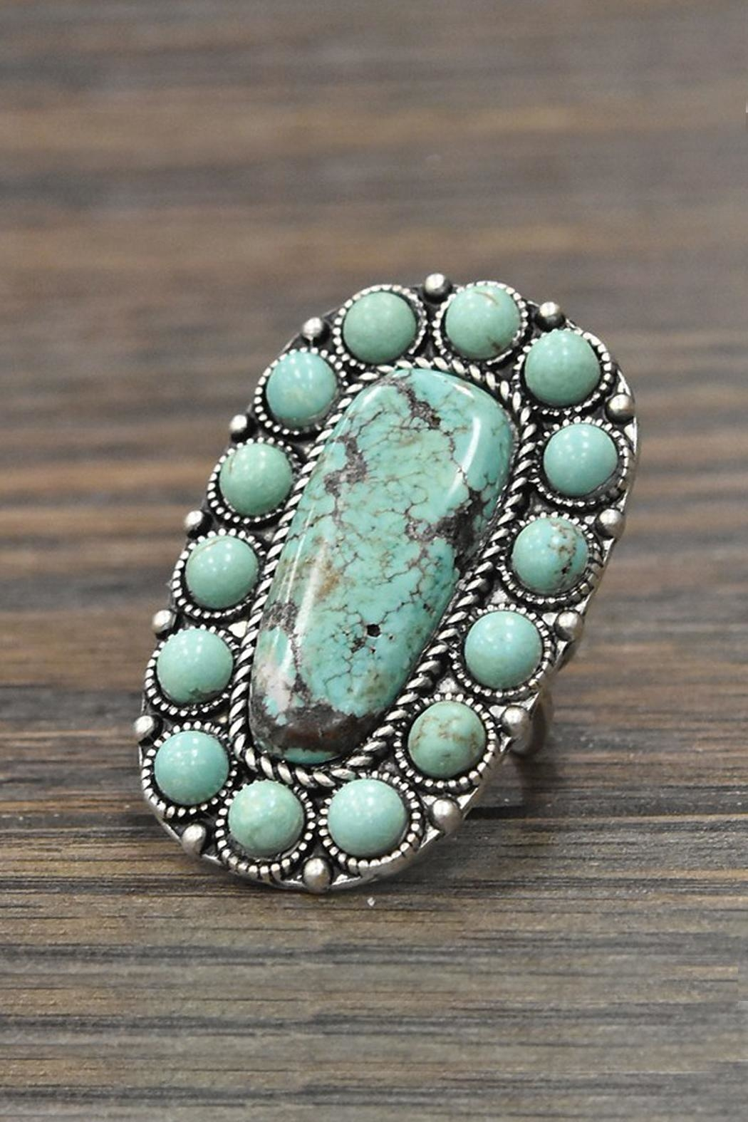 JChronicles Natural Turquoise Stone-Ring - Main Image
