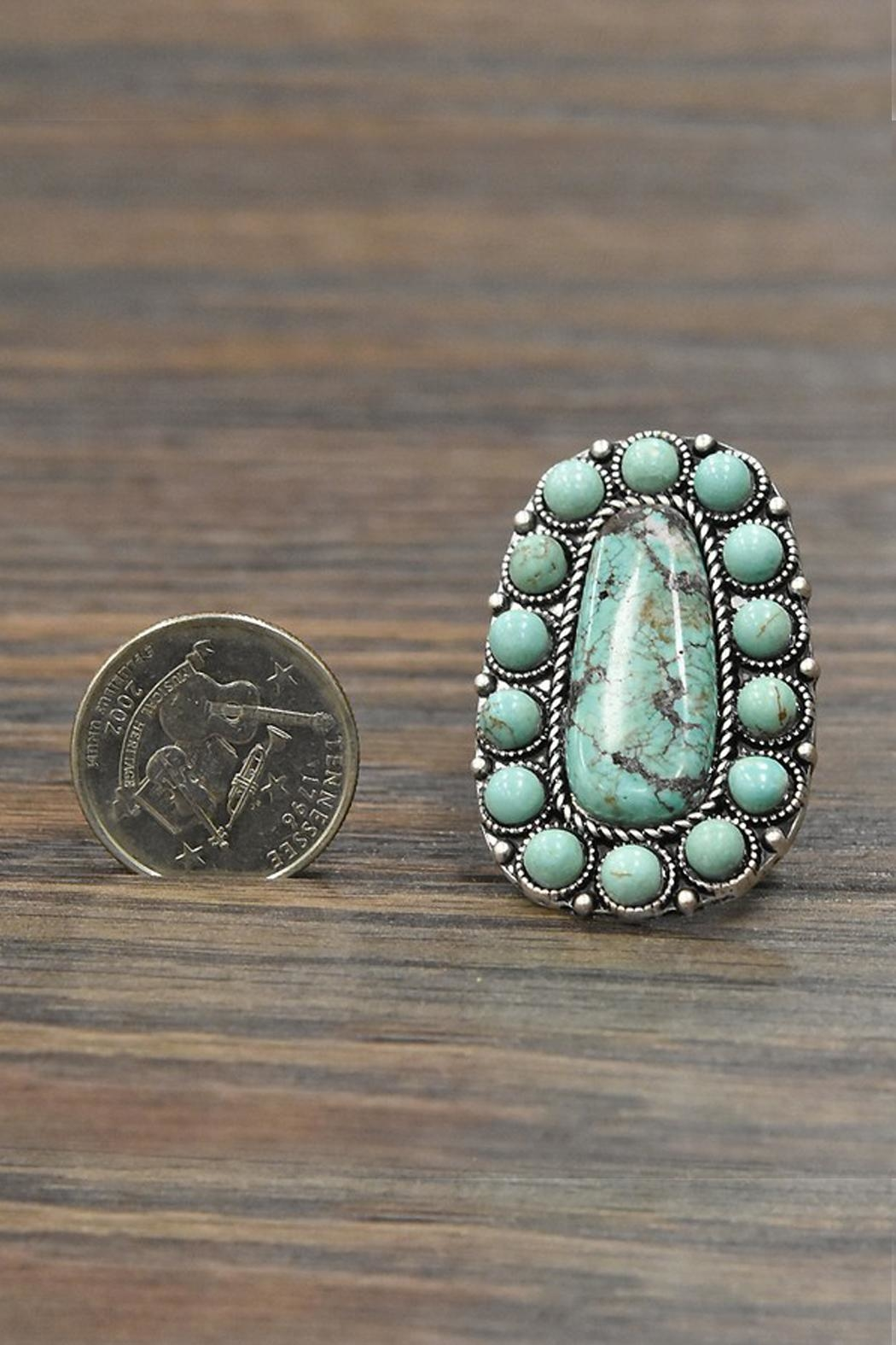 JChronicles Natural Turquoise Stone-Ring - Side Cropped Image