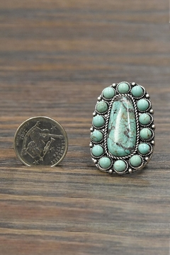 JChronicles Natural Turquoise Stone-Ring - Alternate List Image