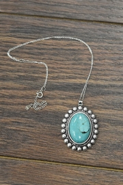 JChronicles Natural-Turquoise-Stone With Sterling-Silver-Chain-Necklace - Product Mini Image