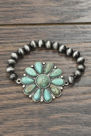 JChronicles Natural Turquoise Stretch-Bracelet - Product Mini Image