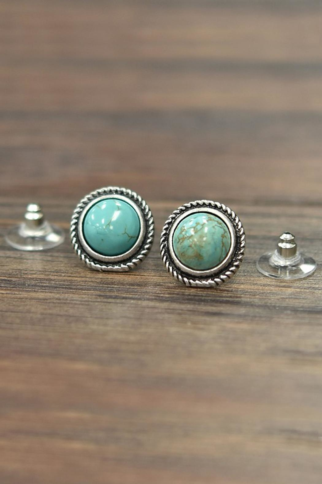 9f697d73e JChronicles Natural Turquoise Stud-Earrings from Texas — Shoptiques