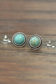 JChronicles Natural Turquoise Stud-Earrings - Product Mini Image