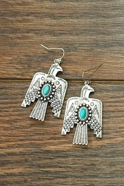 JChronicles Natural Turquoise Thunderbird-Earrings - Product Mini Image