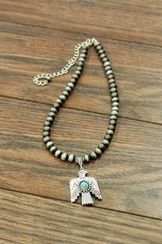 JChronicles Natural-Turquoise Thunderbird-Western Pearl-Necklace - Product Mini Image