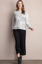 Habitat Natural white and black mixed stitch pullover sweater - Product Mini Image