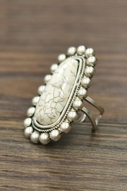 JChronicles Natural-White-Turquoise Adjustable Ring - Product Mini Image