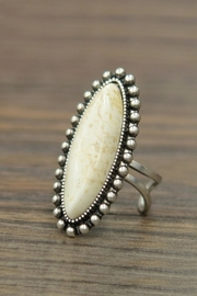 JChronicles Natural White-Turquoise Adjustable-Ring - Product Mini Image