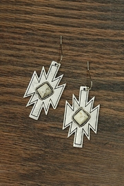 JChronicles Natural-White-Turquoise Aztec Earrings - Product Mini Image