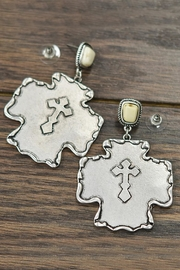 JChronicles Natural-White-Turquoise Cross  Post-Earrings - Product Mini Image