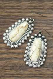 JChronicles Natural White-Turquoise Earrings - Front cropped