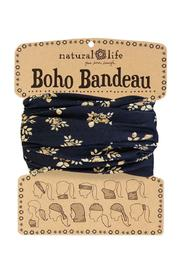Natural Life Black Cream Rose Bandeau - Product Mini Image