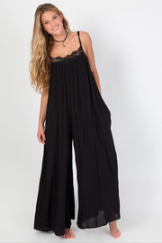 Natural Life Black Crochet Jumpsuit - Product Mini Image