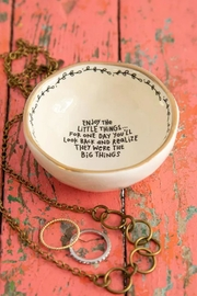 Natural Life Ceramic Trinket Bowl - Front cropped
