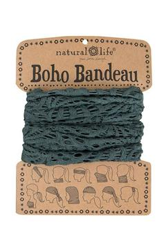 Natural Life Crochet Charcoal Bandeau - Product List Image