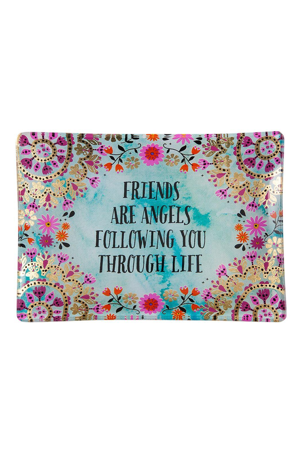 Natural Life Friends Glass Tray - Main Image