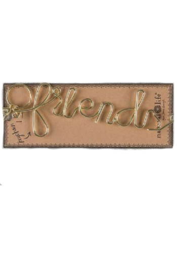 Natural Life Friends Wire Keychain - Main Image