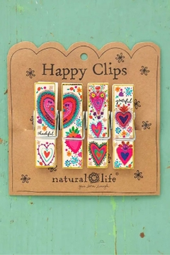 Natural Life Heart Chip Clips - Alternate List Image