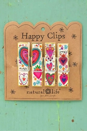 Natural Life Heart Chip Clips - Product Mini Image