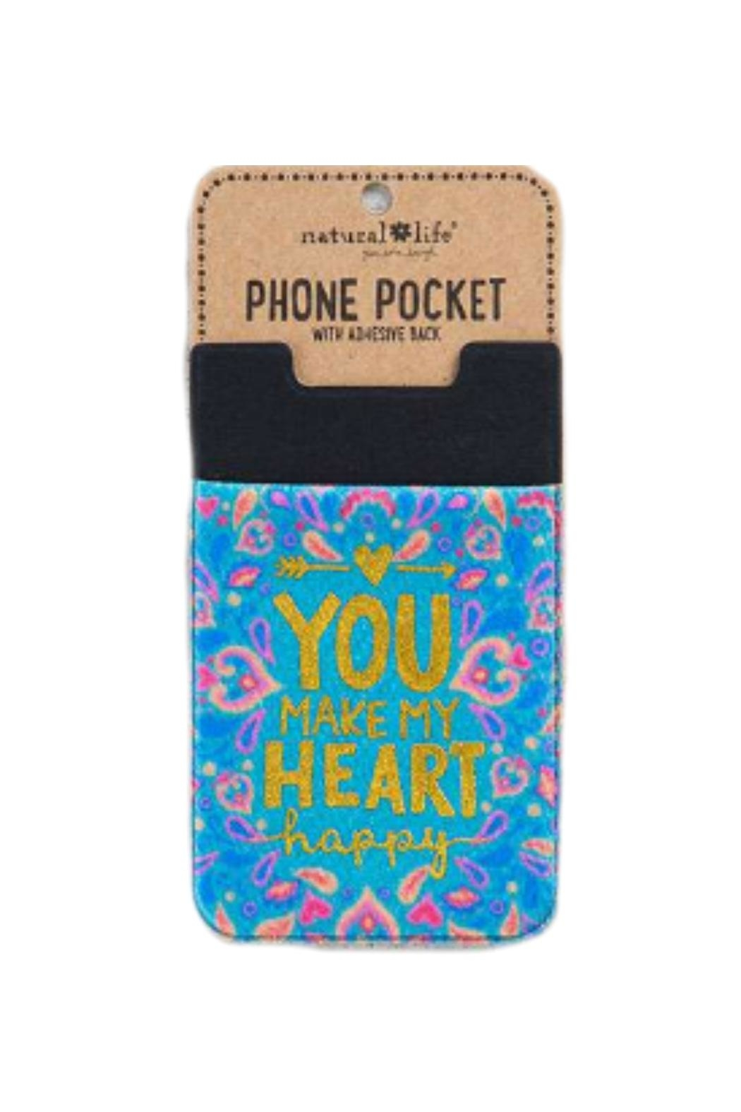 Natural Life Heart Phone Pocket - Front Cropped Image