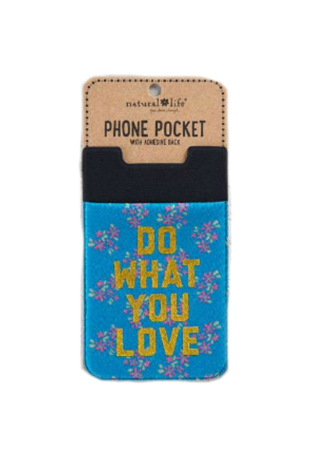 Natural Life Love Phone Pocket - Front Cropped Image
