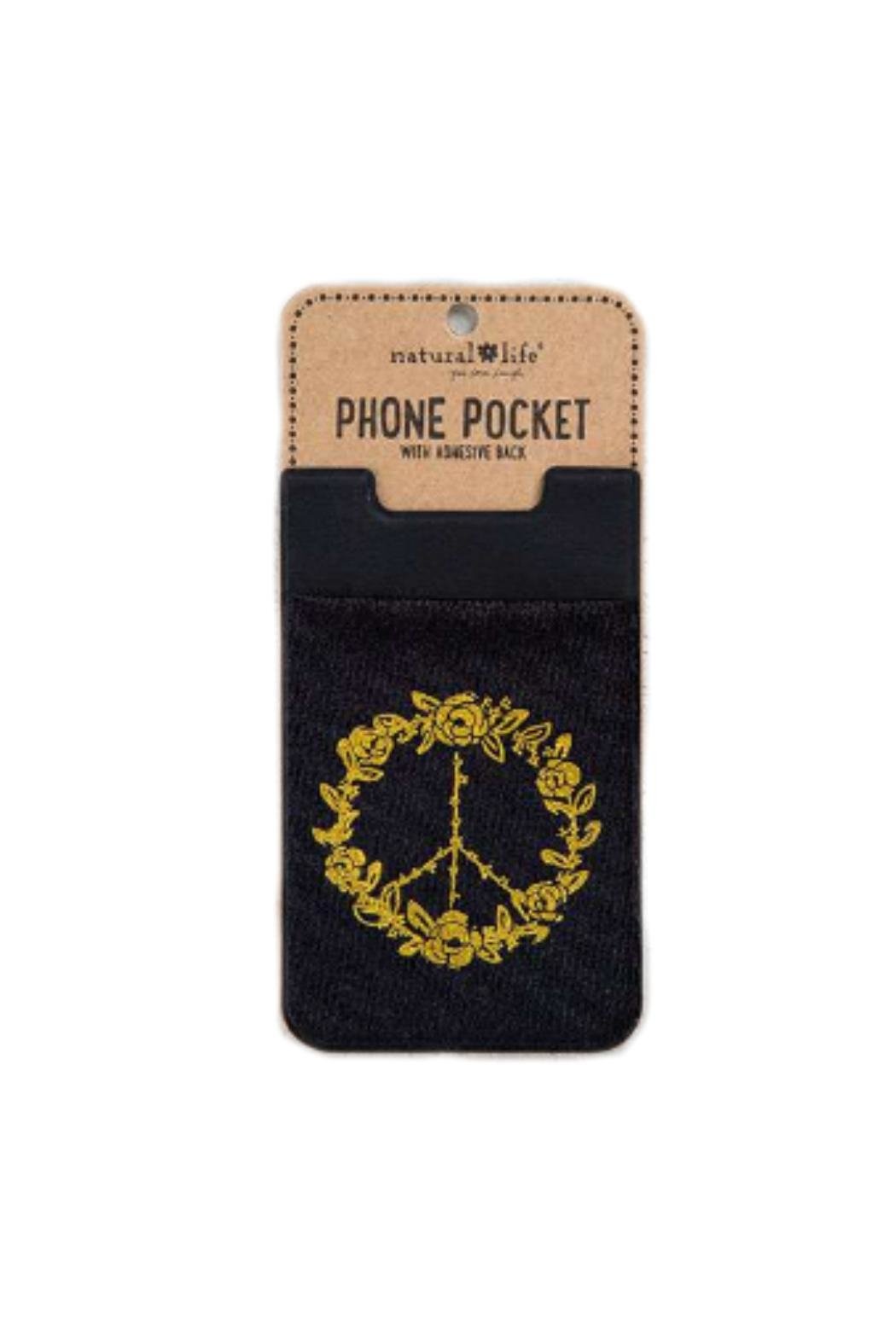 Natural Life Peace Phone Pocket - Front Cropped Image