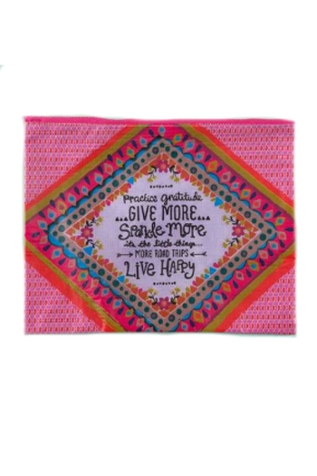 Natural Life Recycled Gratitude Pouch - Main Image