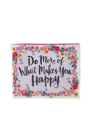Natural Life Recycled Happy Pouch - Front cropped