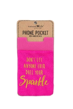 Natural Life Sparkle Phone Pocket - Product List Image