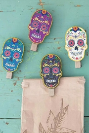 Natural Life Sugar Skull Clips - Product Mini Image