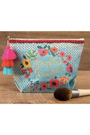 Natural Life Thankful-Grateful Canvas Pouch - Front cropped