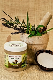 Natural Nirvana Coconut Natural Bodyscrub - Front cropped
