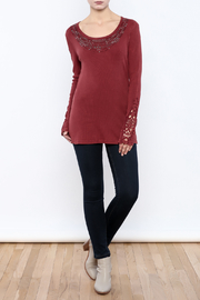 Nature Art Embellished Knit Top - Front full body