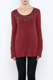 Nature Art Embellished Knit Top - Side cropped
