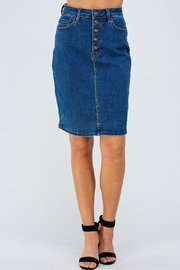 Nature Denim Highrise Denim Skirt - Product Mini Image