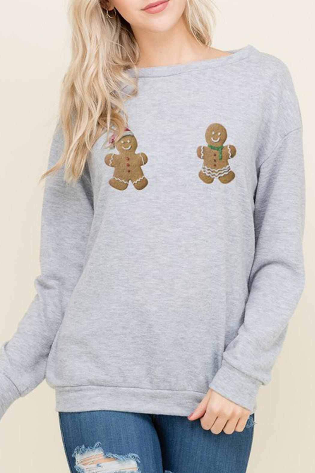 Wild Lilies Jewelry  Naughty Gingerbread Sweater - Main Image