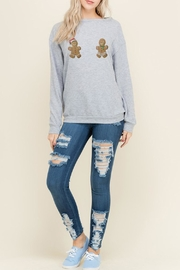 Wild Lilies Jewelry  Naughty Gingerbread Sweater - Side cropped