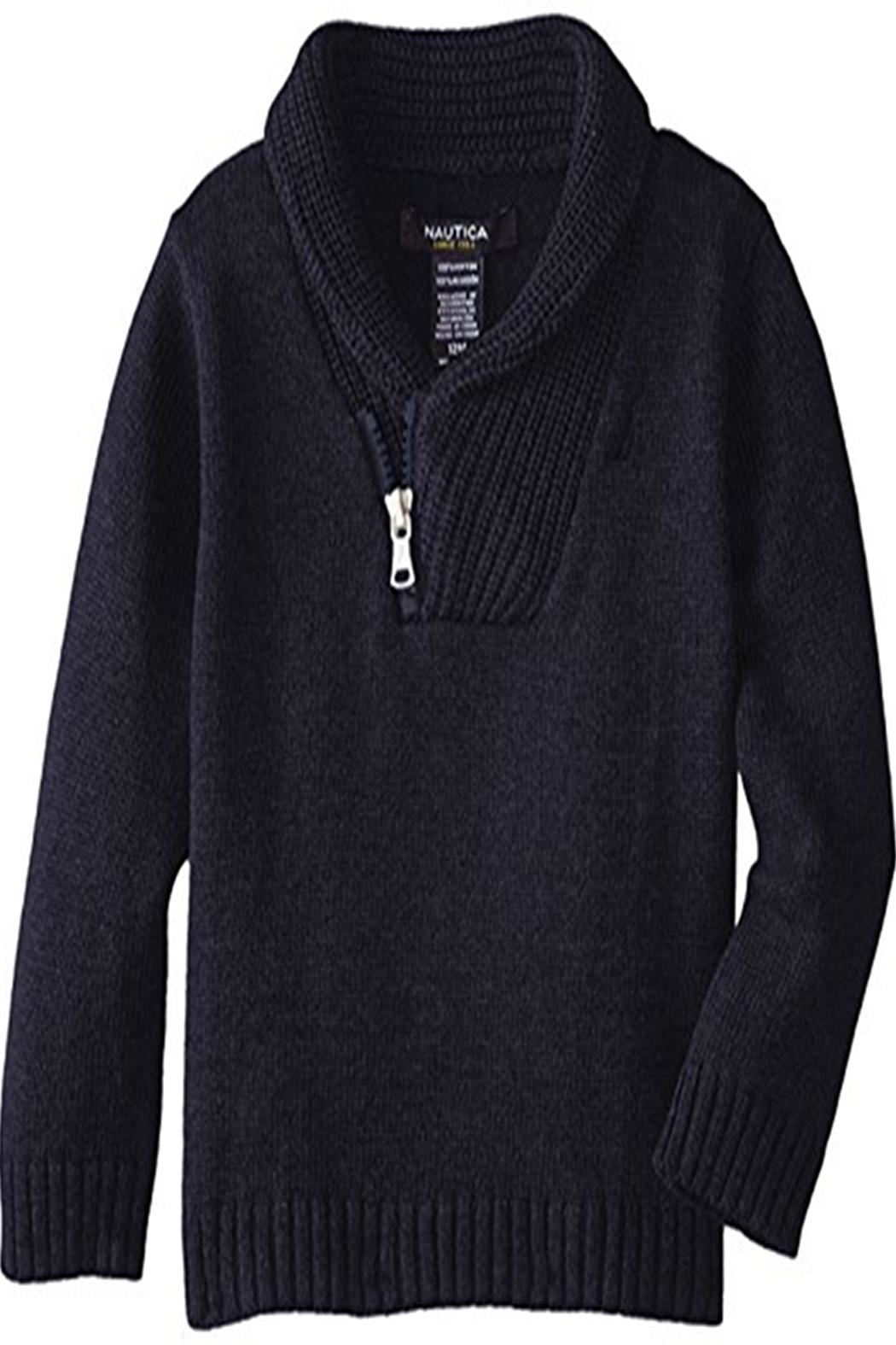 Nautica Zip Shawl Sweater - Front Cropped Image